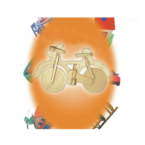 Puzzled Bicycle Wood Mini 3D Puzzle