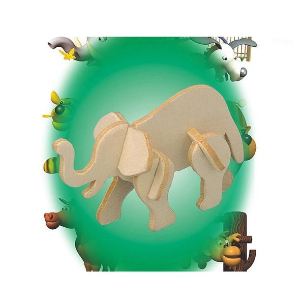 Puzzled African Elephant Mini 3D Puzzle