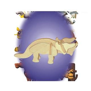 Puzzled Triceratops Mini 3D Wood Puzzle
