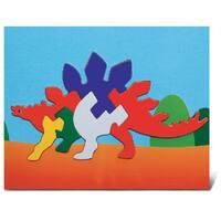 Puzzled Wooden Stegosaurus Puzzle