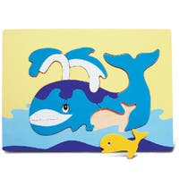 Puzzled Multicolored Wood Whale Puzzle