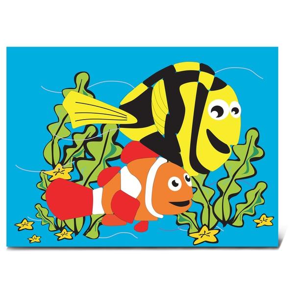 Puzzled Wood 'Aquatic Fish' Jigsaw Puzzle