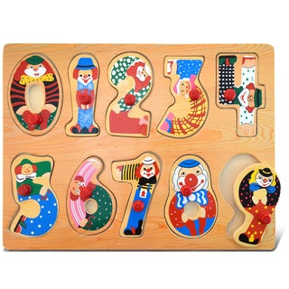 Puzzled Wood Large Numbers Peg Puzzle