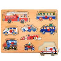 Puzzled Inc. Large Vehicles 1 Peg Puzzle
