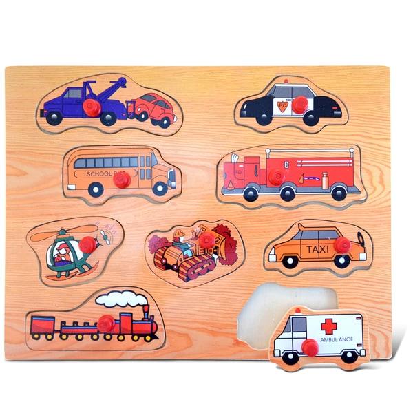 Puzzled Large 'Transportation 2' Peg Puzzle