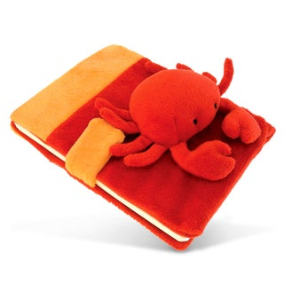 Plush Polyester/Paper Red Crab Notebook