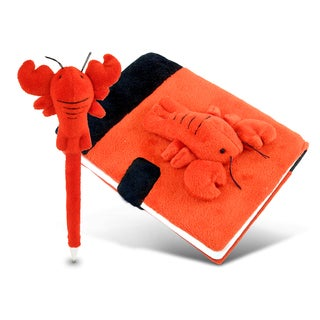 Puzzled Plush Lobster Notebook And Pen