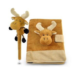 Plush Moose Notebook and Pen