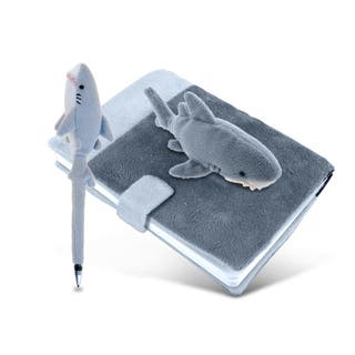 Plush Shark Notebook and Pen|https://ak1.ostkcdn.com/images/products/12414286/P19233063.jpg?impolicy=medium