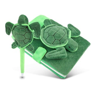 Puzzled Inc. Multicolored Plush Sea Turtle Notebook and Pen