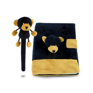Black Bear Plush Notebook and Pen