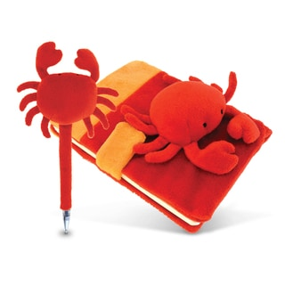 Plush Red Crab Notebook and Pen