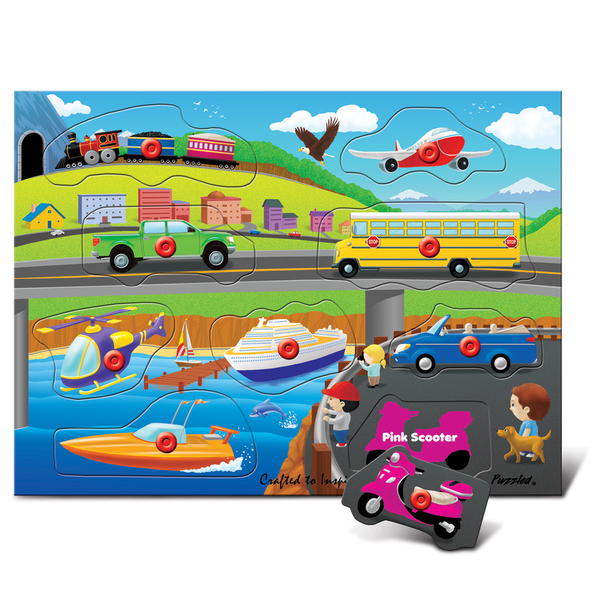 Puzzled Peg Puzzle People Movers