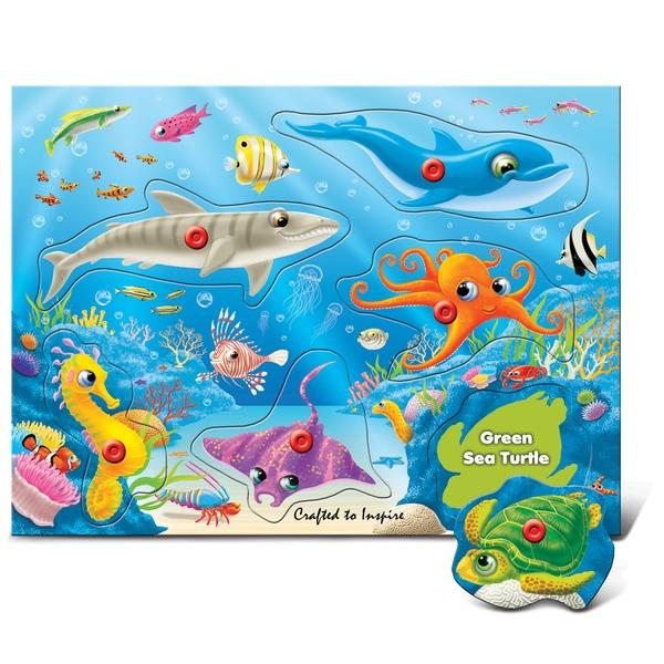 Puzzled Underwater World Peg Puzzle