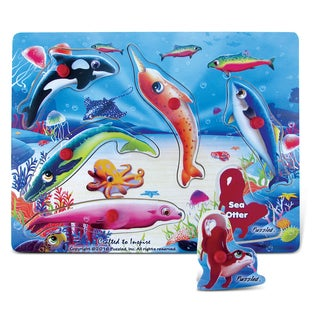 Puzzled Sea Life Peg Puzzle