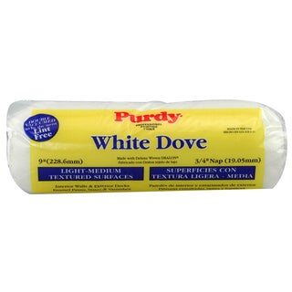 "Purdy 672094 9X3/4 3/4"" White Dove Deluxe Dralon Paint Roller Cover"