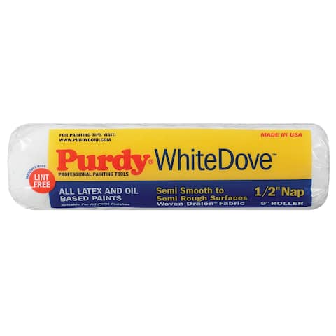 """Purdy 670093 9X1/2 1/2"""" White Dove Deluxe Dralon 9"""" Paint Roller Cover"""