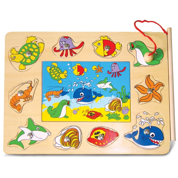 Puzzled Ocean Life Magnetic Fishing Puzzle