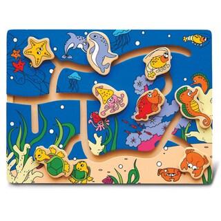Puzzled Inc. Ocean Life Maze Puzzle