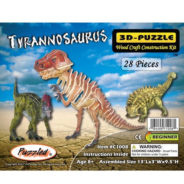 Puzzled Tyrannosaurus Illuminated 3D Puzzle