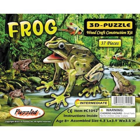 Puzzled Frog Wood Illuminated 3D Puzzle