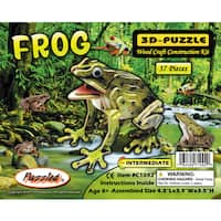 Puzzled Frog Wood Illuminated 3D Puzzle