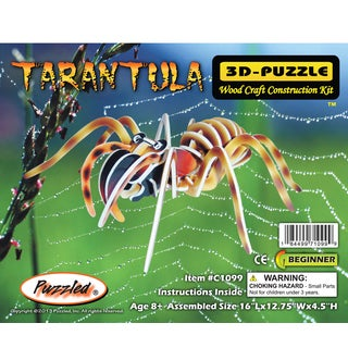 Puzzled Tarantula Wood Illuminated 3D Puzzle
