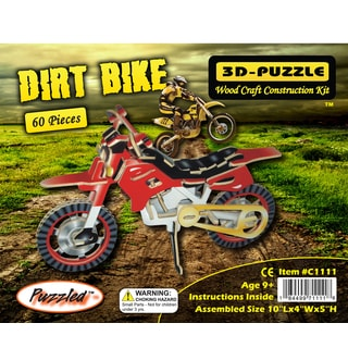 Puzzled Dirt Bike Illuminated 3D Jigsaw Puzzle