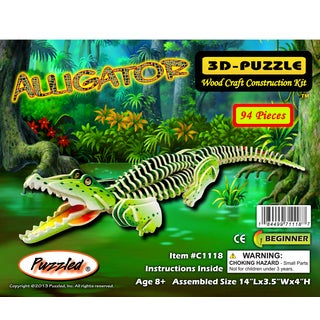 Puzzled Illuminated Alligator 3D Puzzle