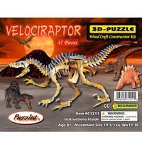Puzzled Illuminated Velociraptor 3D Puzzle
