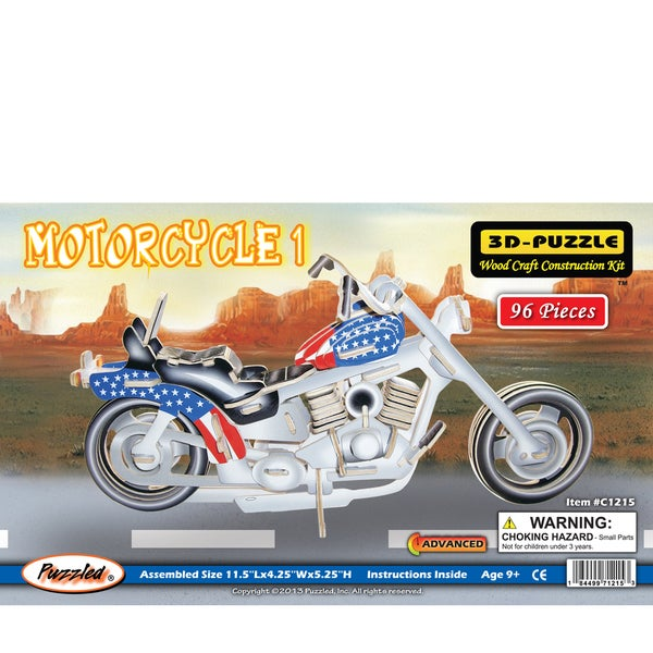 Puzzled Illuminated Motorcylcle 1 3D Puzzle
