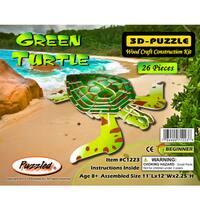 Puzzled Inc. 3D Illuminated Green Turtle Puzzle