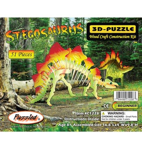 Puzzled Pre-colored Stegosaurus 3D Puzzle