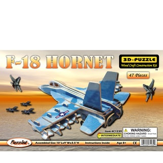 Puzzled F-18 Hornet Wood Illuminated 3D Puzzle