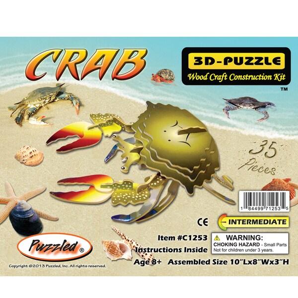 Puzzled Illuminated Wooden Crab 3D Puzzles