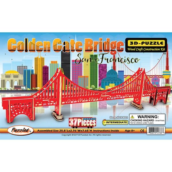 Puzzled Golden Gate Bridge Illuminated 3D Puzzle