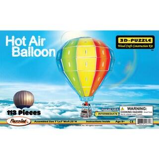 Puzzled Inc. Illuminated 3D Hot Air Balloon Woodcraft Construction Kit
