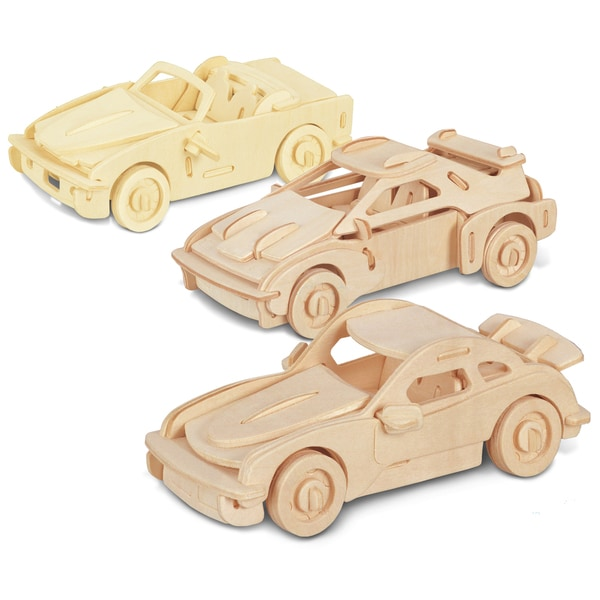 Puzzled F-20, P-911 and B-740I Wooden 3D Puzzle Construction Kit
