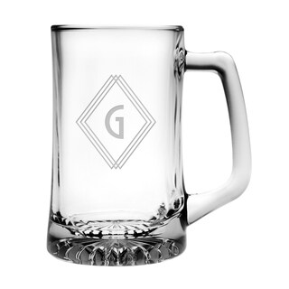 Deco Diamond Monogram Jumbo Beer Mug