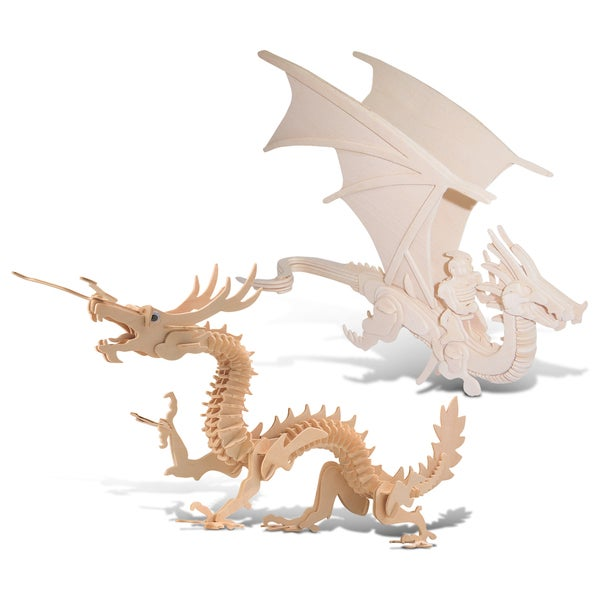 Puzzled Flying Dragon and Dragon Wooden 3D Puzzle Construction Kit