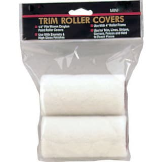 "Gam RC00324 3"" X 1/4"" Draylon Mini Trim Roller Covers Twin Pack"