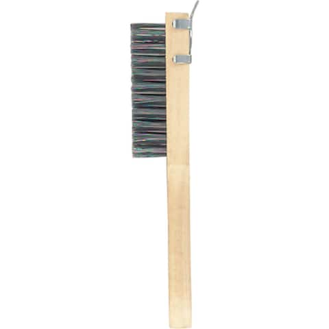 Gam BW01411 Stainless Steel Wire Scratch Brush With Beveled Scraper