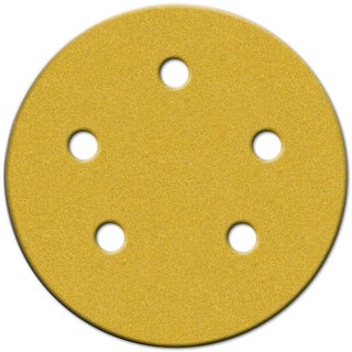 "Norton 02207 5"" Medium Grit P80 Hook & Loop Sanding Disc 4-count"