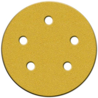 "Norton 02206 5"" Medium Grit P120 Hook & Loop Sanding Disc 4-count"