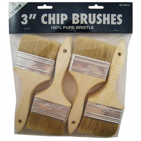 "Gam BB00312 12-count 3"" Chip Brushes"