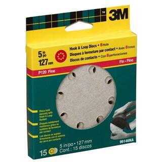 """3M 99146NA 120 Grit 5"""" Fine Hook & Loop Sanding Disc"""