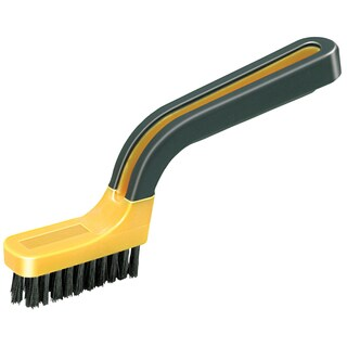 Allway Tools GB Nylon Bristle Paint Stripping & Grout Brush - Yellow