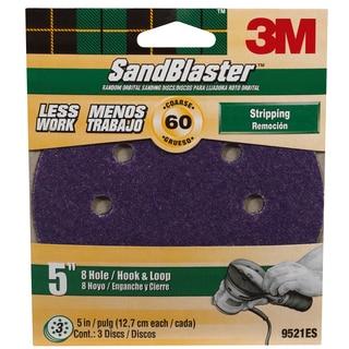 """3M 9521SB-ES 5"""" 60 Grit 8 Hole Hook & Loop SandBlaster Sanding Disc"""