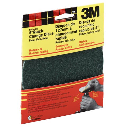 "3M 9142W 5"" Medium Grit Quick Change Sanding Disk"