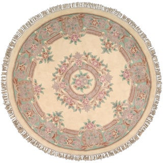 Nourison Garden Collection Ivory Area Rug (8' Round)
